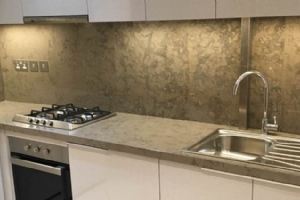 Grey Marble Kitchen Counter Top
