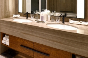Grey Wood Marble Bathroom Top