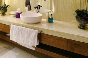 Light Travertine Counter Top